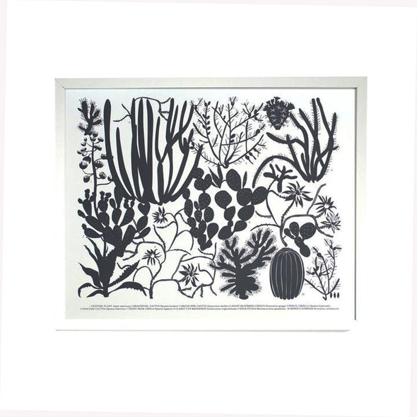 Screen Print: Ten Cacti