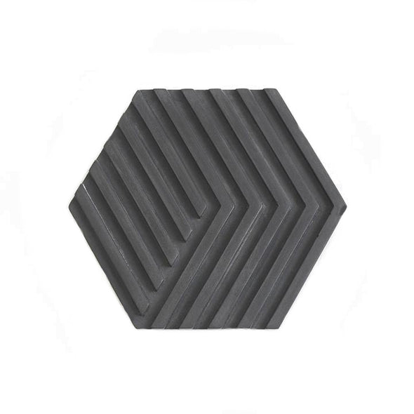 Concrete Tile Trivet Black