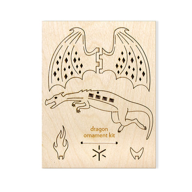Wood Ornament Kit: Dragon
