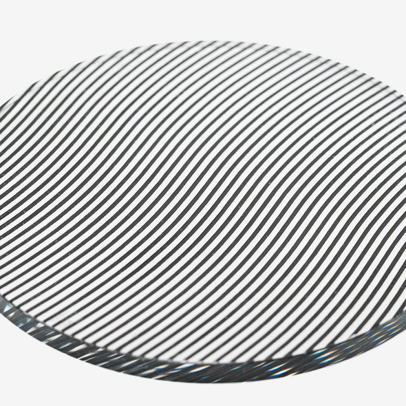 Glass Grid Coasters: Wave