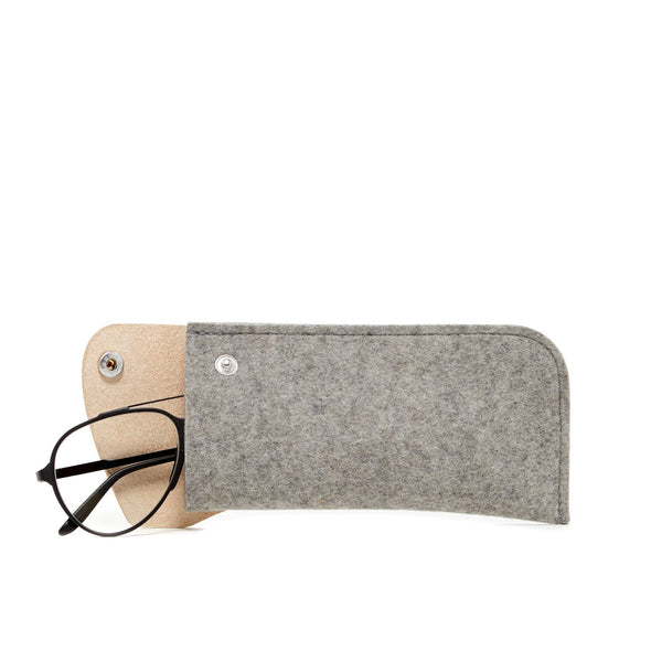 Eyeglass Sleeve: Grey Felt