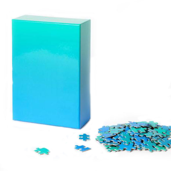 Gradient Puzzle: Blue/Green
