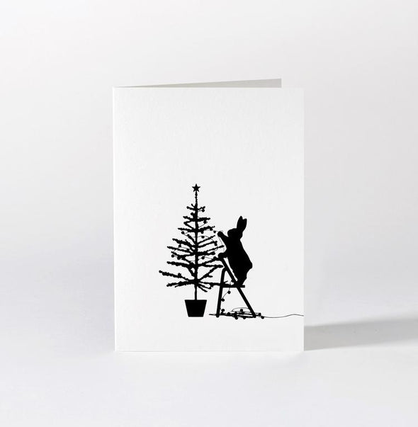 Card: Tree Trimming Rabbit