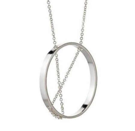 Necklace: Inner Circle Sterling Silver