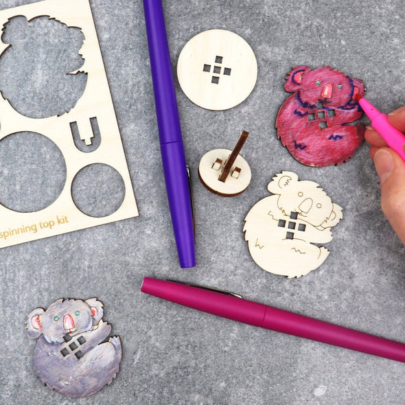 DIY Spinning Top: Koala
