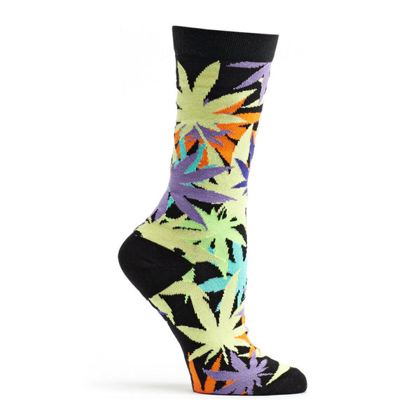 Socks: Laced Weed Black