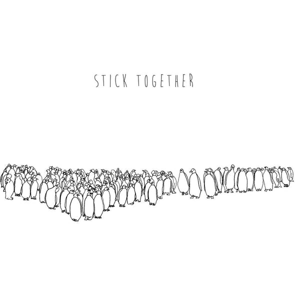 Print: Stick Together Penguins