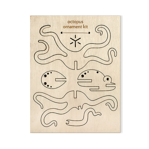Wood Ornament Kit: Octopus