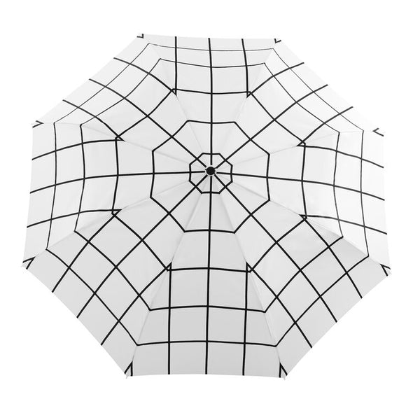 Original Duck Umbrella: White Grid