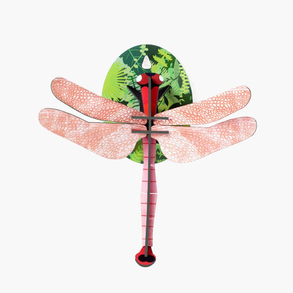 Pink Dragonfly Paper Model