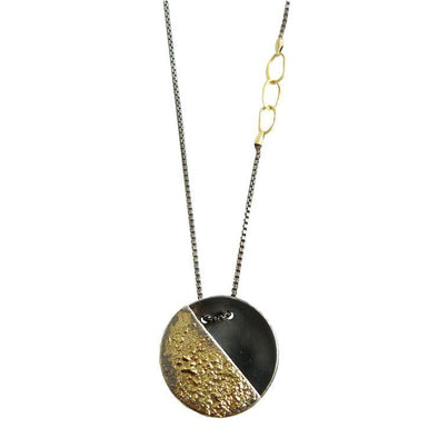 Necklace: Quarter Moon Gold