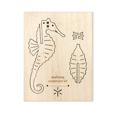 Wood Ornament Kit: Seahorse