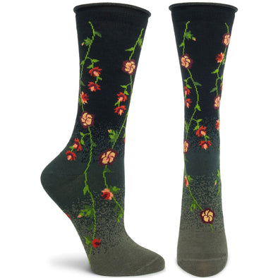Socks: Tibetan Flowers