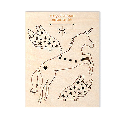 Wood Ornament Kit: Unicorn