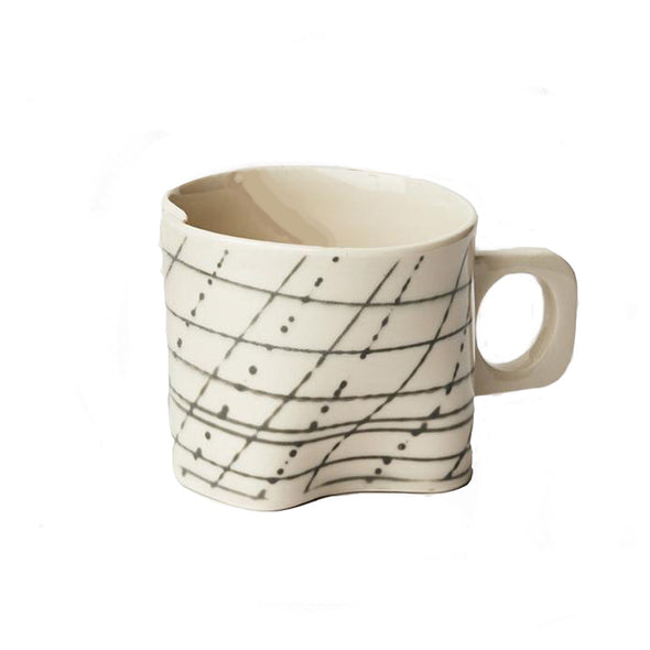 Grid Mug: White on Black