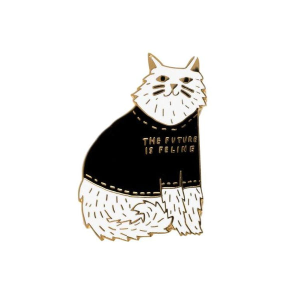 Enamel Pin: Future is Feline