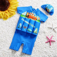 Load image into Gallery viewer, Kids Floating Swimsuit with Zipper Life Vest