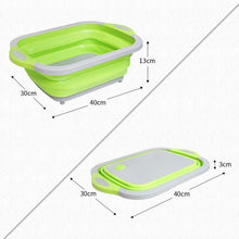 Load image into Gallery viewer, Collapsible Dish Tub&Cutting Board With Draining Plug
