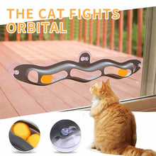 Load image into Gallery viewer, Window mounted track ball toy for cats