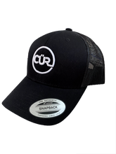 Load image into Gallery viewer, CÜR Snapback Trucker Cap (Black)