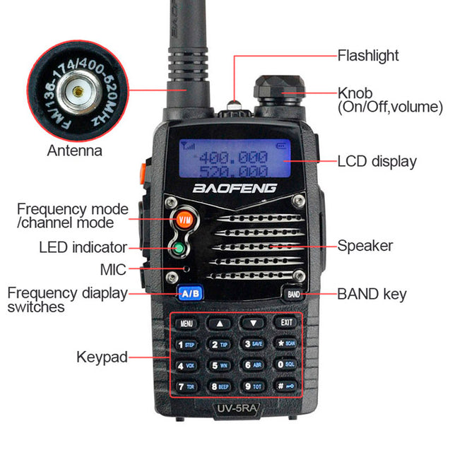 UV-5RA 4W Dual Band Radio