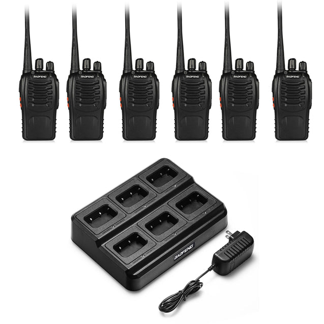 BF-888S [6 Packs] with Six-way Charger and Programming Cable