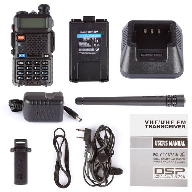 UV-5R 5W Dual Band Radio [5 PACKS]