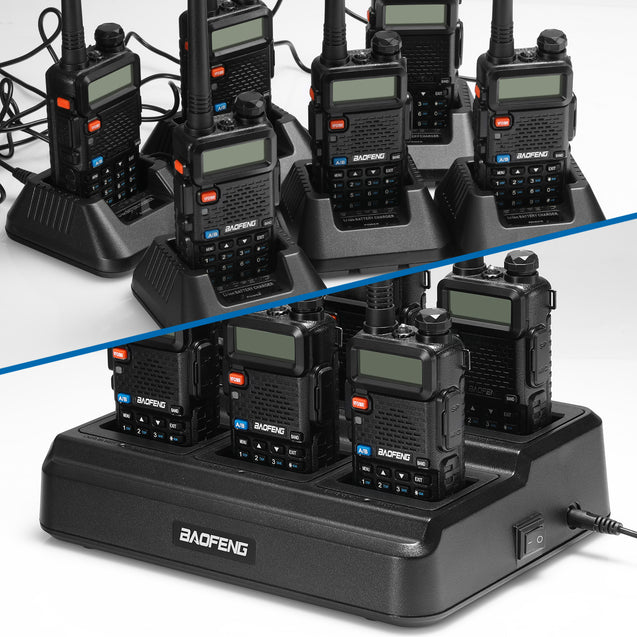 UV-5R Series Six Way Charger