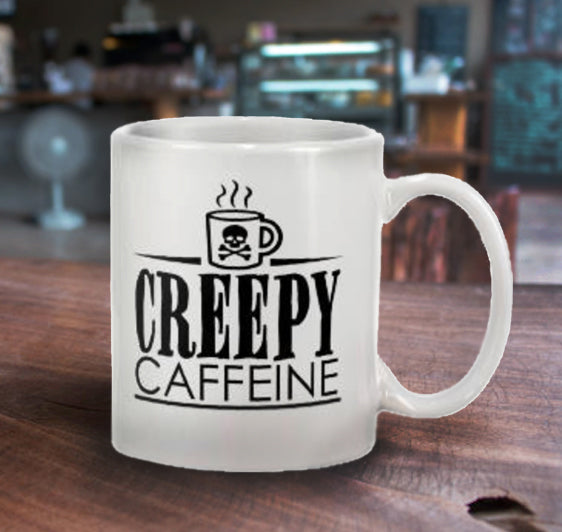 Creepy Caffeine Logo Mug 11oz