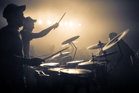 a person playing the drums