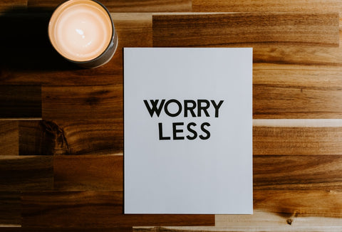 text that says worry less