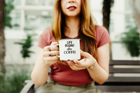 Woman with the coffee mug