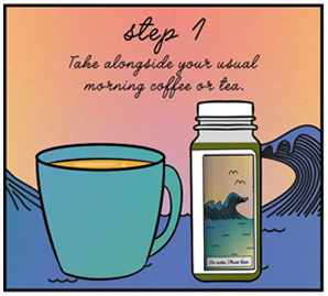 Step 1 - Take alongside your usual morning coffee or tea