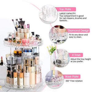 Sarique®️ Luxury beauty Rotating Makeup Organizer Shopivate