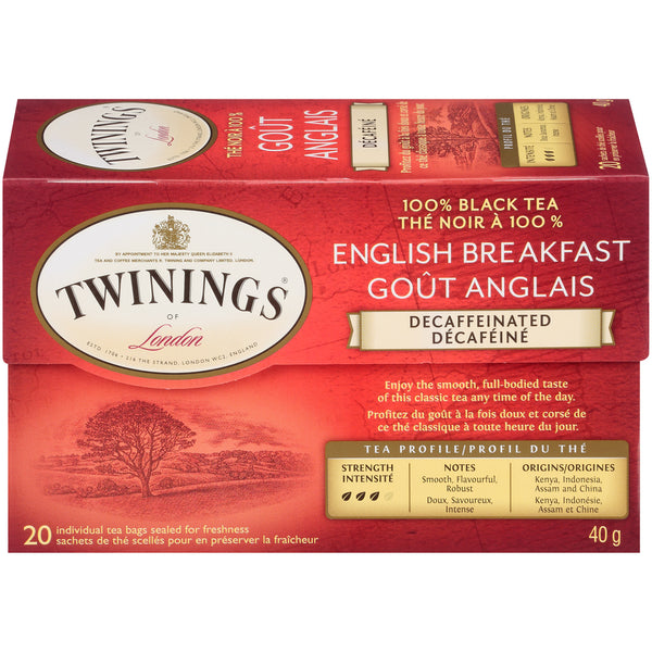 Twinings Tea - Decaf English Breakfast - 20's