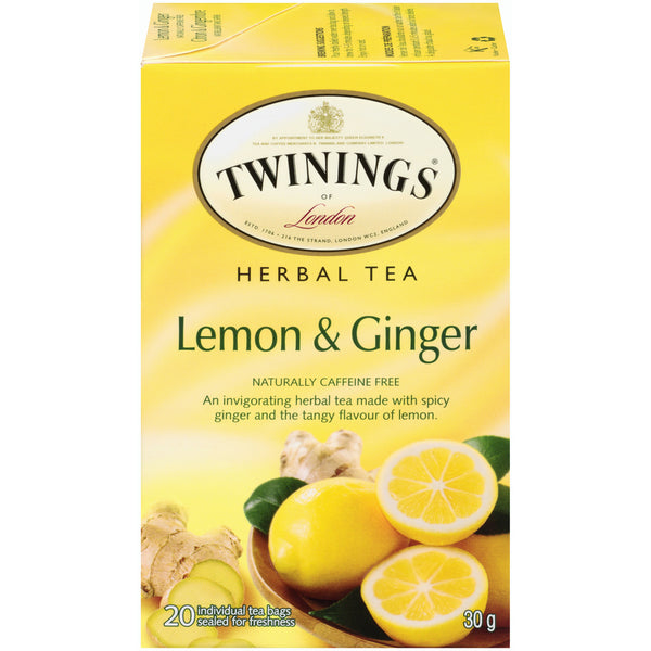 Twinings Tea - Lemon Ginger - 20's