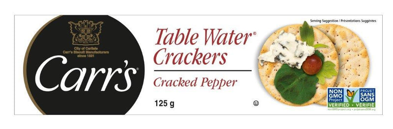 Carr's Cracked Pepper - 125 g