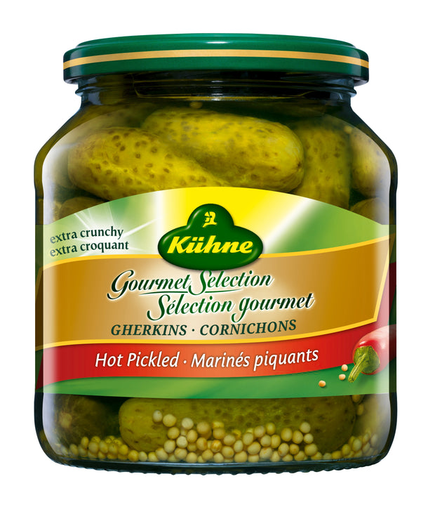 Kuehne Gherkins Hot - 500 ml