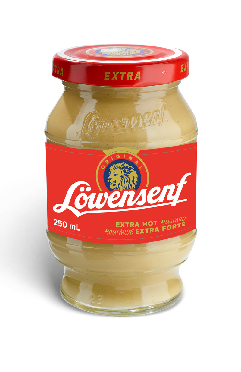 Lowensenf Mustard Jar Extra Hot - 250 mL
