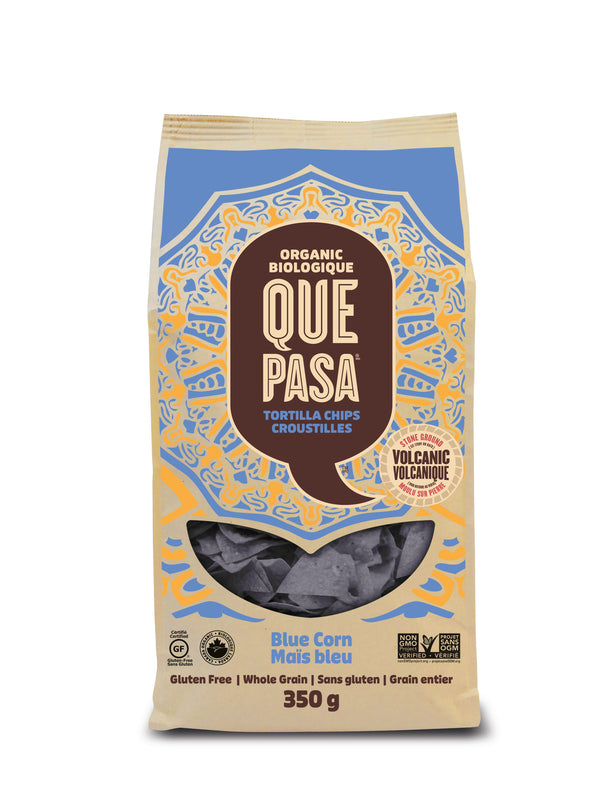 Que Pasa Tortilla Chips Blue - 350 g