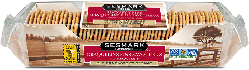 Sesmark Thins Wheat/Sesame - 90 g