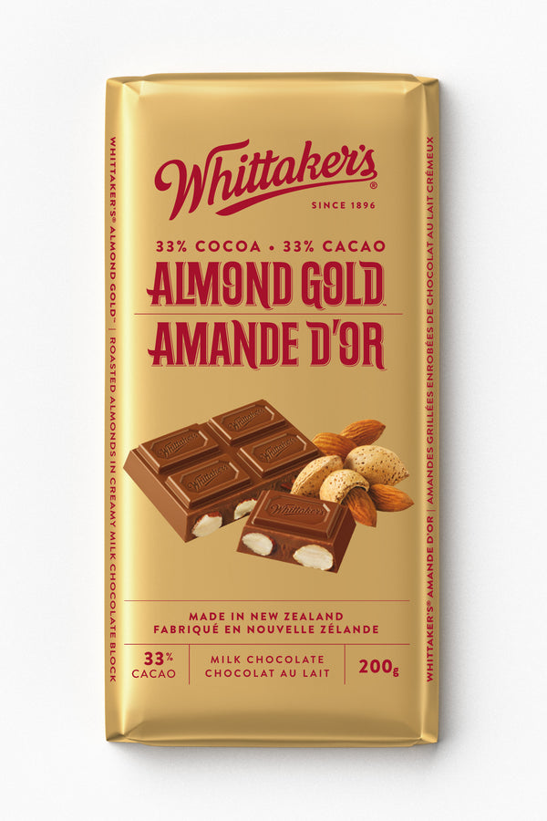 Whittakers Bar Almond Gold - 200 g
