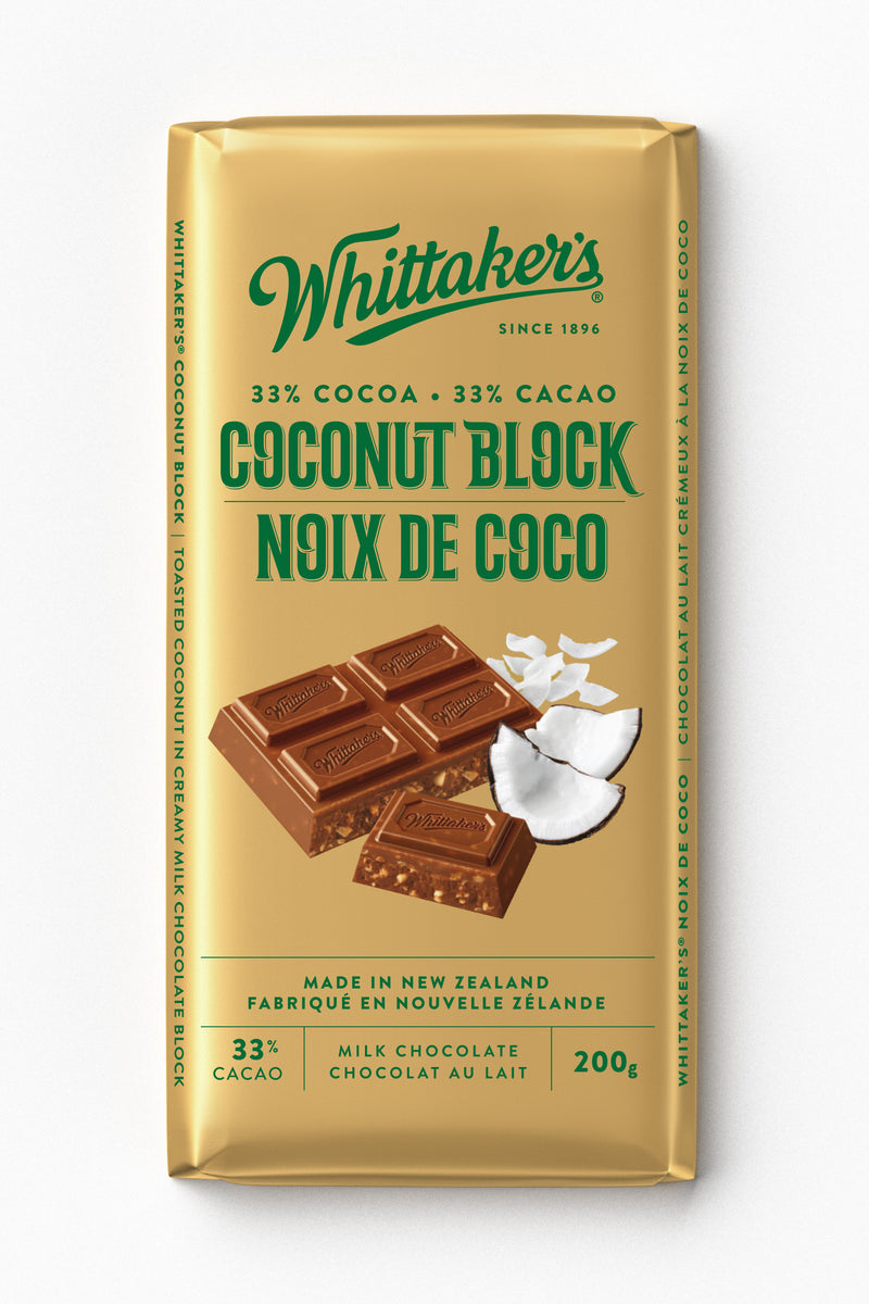 Whittakers Bar Coconut Block - 200 g