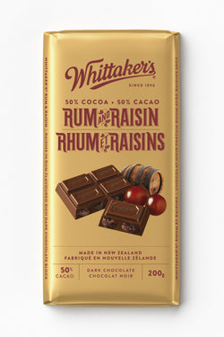 Whittakers Bar Rum & Raisins - 200 g