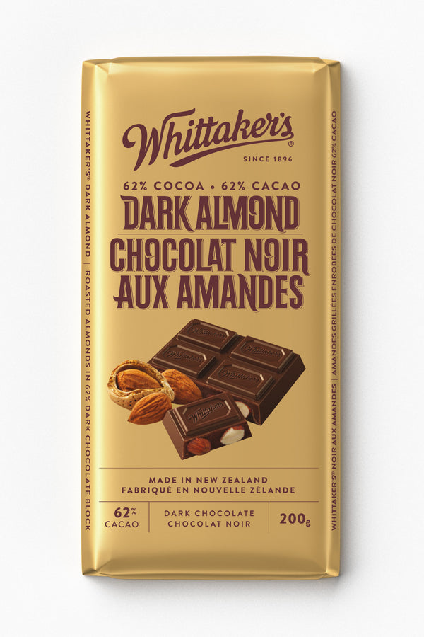Whittakers Bar Almond 62% Dark - 200 g