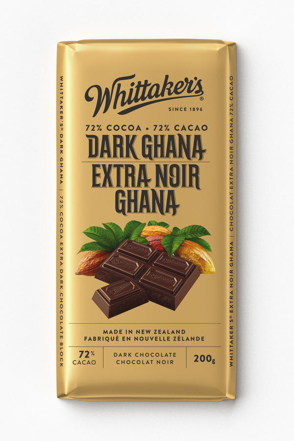 Whittakers Bar Ghana 72% Dark - 200 g