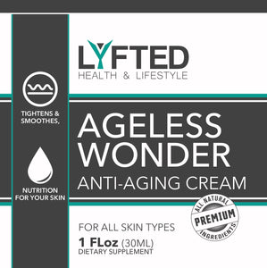 skin care product for athletes; lyfted health lifestyle company ageless wonder anti-aging cream