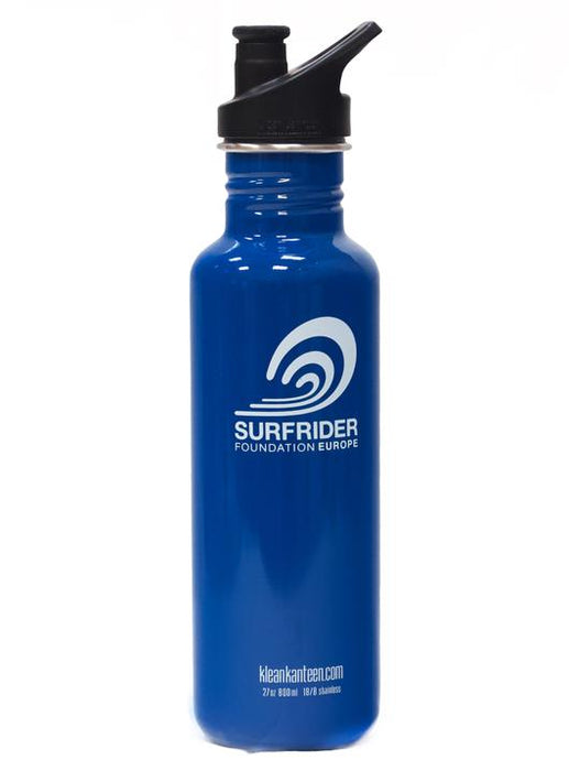 Klean Kanteen X Surfrider Foundation Classic einwandige Trinkflasche 800ml (27oz) Loop Cap - REBEL FIN CO.