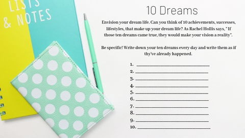 ten dreams list