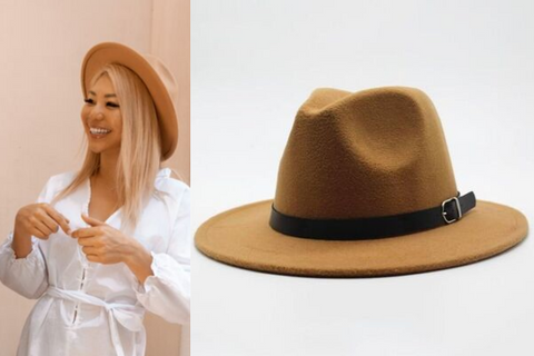 brown felt hat fashion